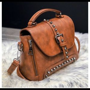 Handbags - 🆒🆕 Brown studded shoulder bag,cross body bag